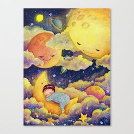 Sleeping in the moonlinght Canvas Print