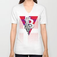 denmark V-neck T-shirts featuring bitcoin denmark by seb mcnulty