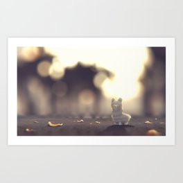 Tiny Alpaca Adventures Art Print