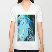 sailing V-neck T-shirts featuring Sailing by Robin Curtiss