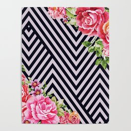 flowers geometric Poster