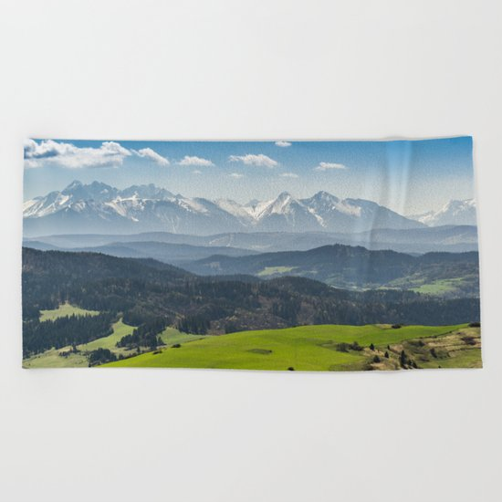 Tatry Poland Landscape Beach Towel