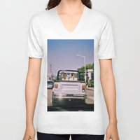 jeep V-neck T-shirts featuring Jeep by Warren Silveira + Stay Rustic