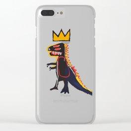 Basquiat Dinosaur Clear iPhone Case