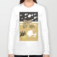 war Long Sleeve T-shirts featuring war by DONA USTRA