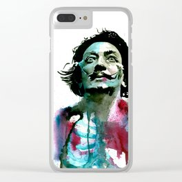 Watercolor Dali Clear iPhone Case