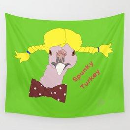 Spunky Turkey Yellow Hair GB TX Wall Tapestry