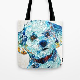 Small Cute Dog Art - Who Me? - Sharon Cummings Tote Bag