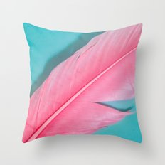 PINK FEATHER 2 Throw Pillow