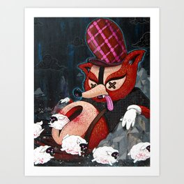Out Foxed Print~! Art Print