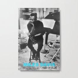 Reproduction Jazz Poster, MilesDavis - Kind Of Blue, Home Wall Art. Metal Print