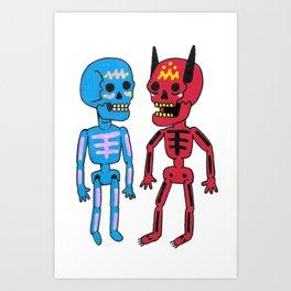 Deeablos Amigos Art Print
