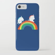 Unicorn on rainbow slide Slim Case iPhone 7