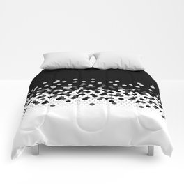 Flat Tech Camouflage Black and White Comforters