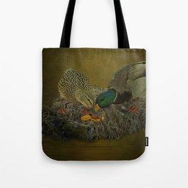 Mallards Having A Meal Tote Bag