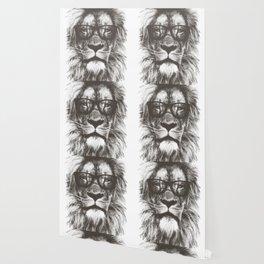Lion in glasses art Wallpaper