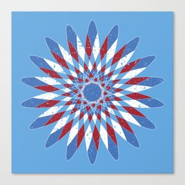 Distressed Kaleidoscope Canvas Print