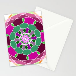 Mandala in many colors Stationery Cards