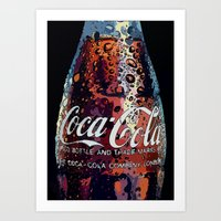coca cola Art Prints featuring The Real.... by LesImagesdeJon
