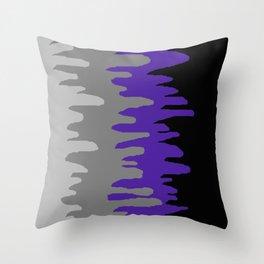 Splash of colour (purple & gray) Throw Pillow