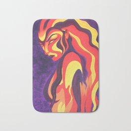 Fiery Woman Bath Mat