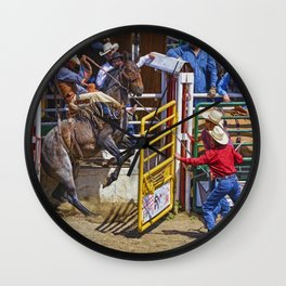 The Release - Rodeo Bronco Riding Wall Clock