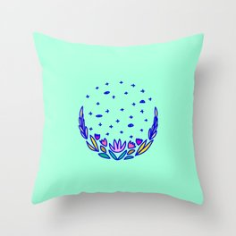 The secrets of garden 3 Throw Pillow