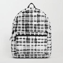 Shibori black dash lines Backpack