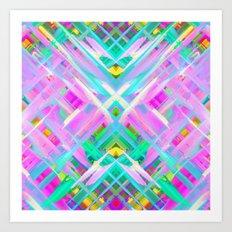 Colorful digital art splashing G473 Art Print