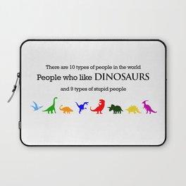 10 Types of People (Dinosaurs) Laptop Sleeve