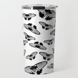 Butterflies in black and white Travel Mug