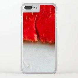 Sandía (rojo y blanco) Clear iPhone Case