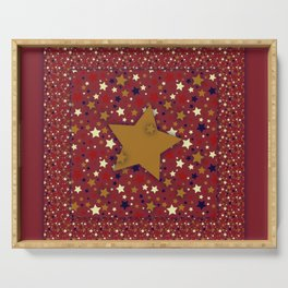 Gold Star Red Serving Tray