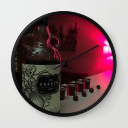 dark drinks Wall Clock