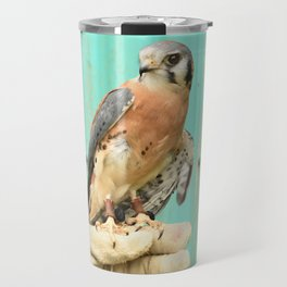 American Kestrel Falcon Bird Wildlife Northwest Travel Mug