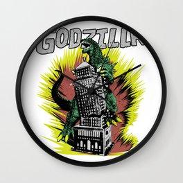 Godzilla War III Wall Clock