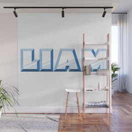 """""""LIAM"""" first name blue pattern Wall Mural"""