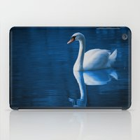 swan iPad Cases featuring Swan by Spooky Dooky