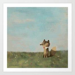 Field Fox Art Print