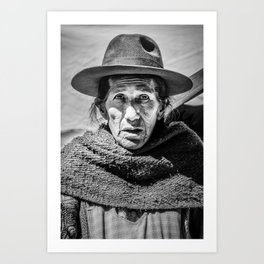 Old Lady At the Market  Art Print