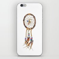 dreamcatcher iPhone & iPod Skins featuring Dreamcatcher by Bruce Stanfield