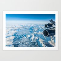 Glaciers of Greenland from 37,000ft Art Print