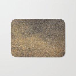 Black Yellow Sandpaper Texture Bath Mat
