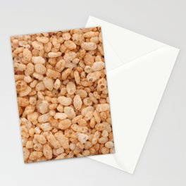 Crisped rice breakfast cereal Stationery Cards