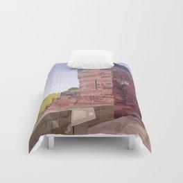 Retro Style Travel Poster - Chester - Bonewaldesthorne's Tower Comforters
