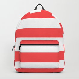 Coral Stripes Backpack