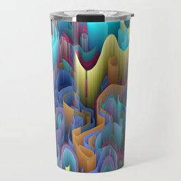 labyrinth mountains Travel Mug