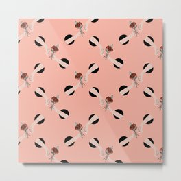 In Love - hands with flowers - PINK #pattern Metal Print