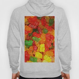 red orange yellow colorful gummy bear Hoody