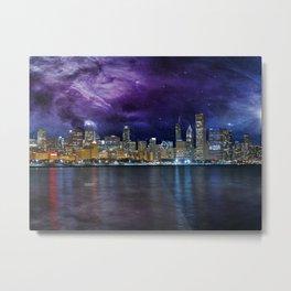 Spacey Chicago Skyline Metal Print